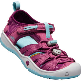 Keen Moxie Sandals Kids red violet/pastel turquoise